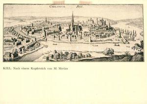 AK / Ansichtskarte Kiel Nach einem Kupferstich von M. Merian  Kat. Kiel