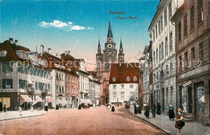 AK / Ansichtskarte Ansbach Mittelfranken Oberer Markt Kat. Ansbach