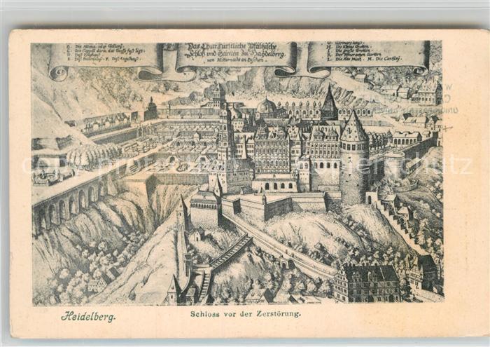 AK / Ansichtskarte Heidelberg Neckar Schloss vor der Zerstoerung Kat. Heidelberg
