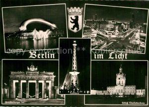 AK / Ansichtskarte Berlin Kongresshalle Kurfuerstendamm Schloss Charlottenburg Funkturm  Kat. Berlin