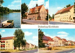 AK / Ansichtskarte Doberlug Kirchhain Bad Erna Rathaus HOG Gruener Berg Bahnhofstrasse Hauptstrasse Kat. Doberlug Kirchhain