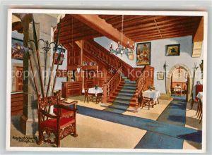 AK / Ansichtskarte Rothenburg Tauber Hotel Eisenhut Empfang Kat. Rothenburg ob der Tauber