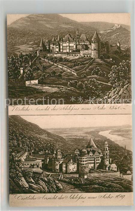 AK / Ansichtskarte Heidelberg Neckar Alt Heidelberg mit Schloss Kat. Heidelberg