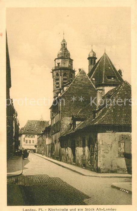 AK / Ansichtskarte Landau Pfalz Kirchstra?e Alt Landau Kat. Landau in der Pfalz