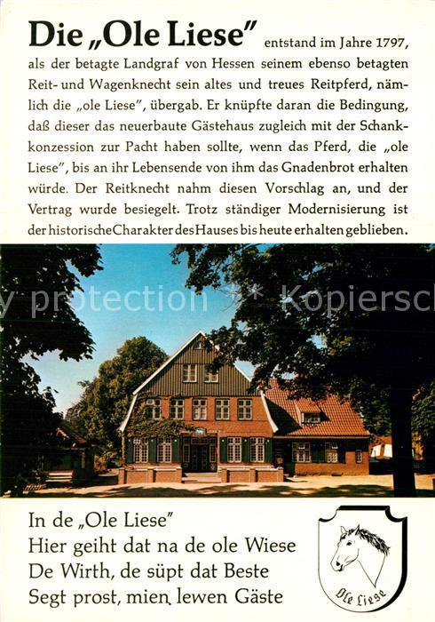 litho panker schleswig holstein gasthaus zur ohlen liese inh d behrens hessenstein nr. Black Bedroom Furniture Sets. Home Design Ideas