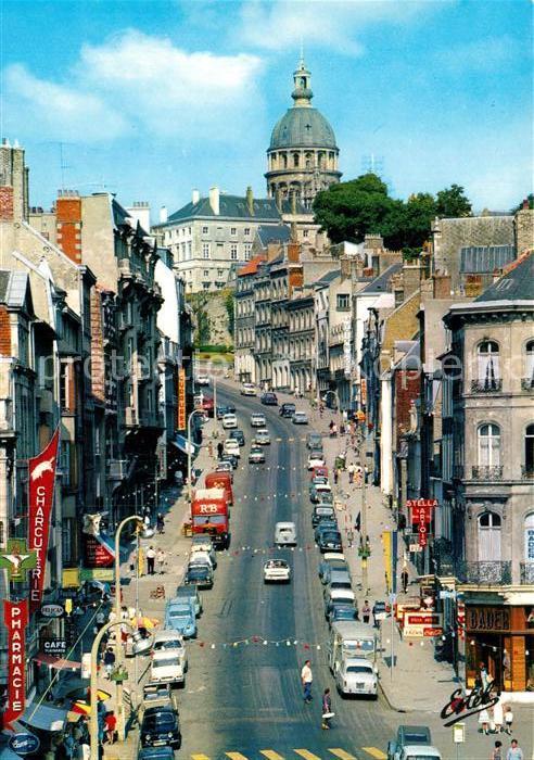 AK / Ansichtskarte Boulogne sur Mer La Grande Rue et la basilique de dediee a Notre Dame Kat. Boulogne sur Mer