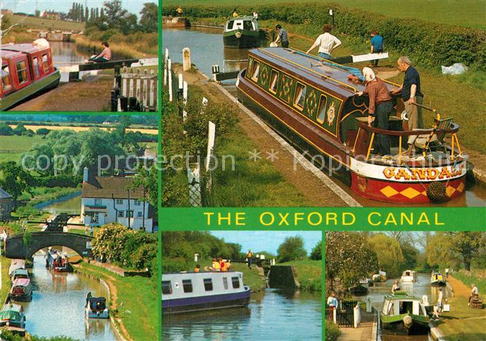 AK / Ansichtskarte Oxford Oxfordshire The Oxford Canal Hillmorton Locks Napton Locks Nell Bridge Lock Dukes Lock Cropedy Lock Kat. Oxford