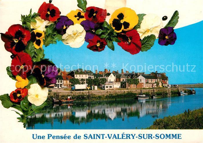 AK / Ansichtskarte Saint Valery sur Somme Vue generale et le port de peche des fleurs Kat. Saint Valery sur Somme