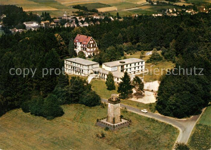 AK / Ansichtskarte Altenkirchen Westerwald Bismarckturm Ev Kindererholungsheim Westerwaldheim Fliegeraufnahme Kat. Altenkirchen (Westerwald)
