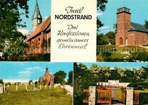 AK / Ansichtskarte Odenbuell Evangelische Kirche Katholische Kirche Ehrenmal  Kat. Nordstrand