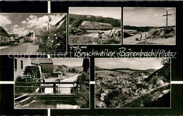 AK / Ansichtskarte Bruchweiler-Baerenbach Gipfelkreuz Panorama Wasserrad Panorama  / Bruchweiler-Baerenbach /Suedwestpfalz LKR