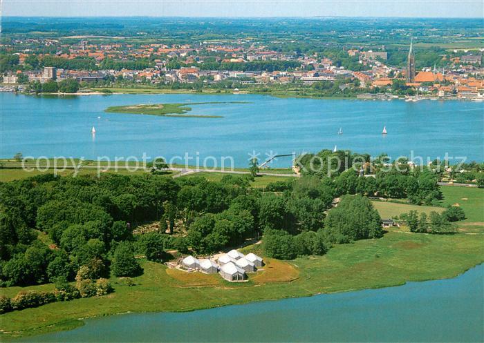 Ak Ansichtskarte Schleswig Schlei Fliegeraufnahme Blick Vom