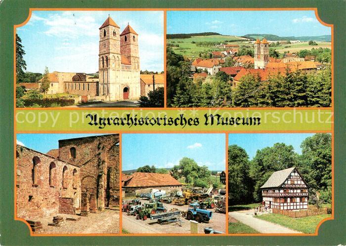 AK / Ansichtskarte Kloster Vessra Ruine Klosterkirche Landtechnik Freilichtausstellung Bauernhaus  Kat. Kloster Vessra