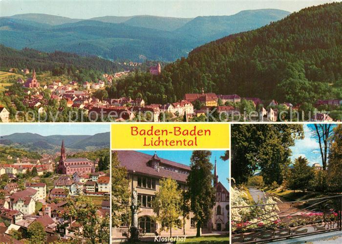 AK / Ansichtskarte Baden Baden Panorama Kirche Klosterhof Park Kat. Baden Baden