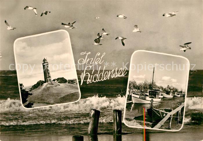 AK / Ansichtskarte Insel Hiddensee Leuchtturm Hafen Kat. Insel Hiddensee
