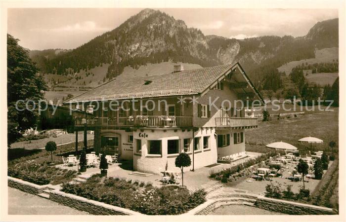 AK / Ansichtskarte Hindelang Cafe Hirschbachwinkel Kat. Bad Hindelang