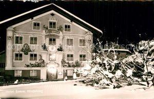 AK / Ansichtskarte Hindelang Hotel Sonne Nachtaufnahme Kat. Bad Hindelang