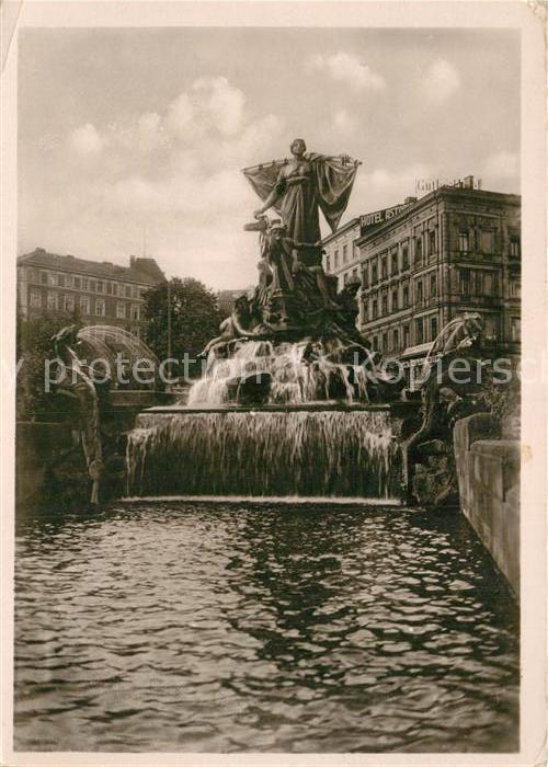 AK / Ansichtskarte Stettin Szczecin Manzelbrunnen