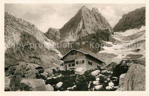 AK / Ansichtskarte Blaueishuette am Hochkalter Gletscher Kat. Hochkalter Ramsau