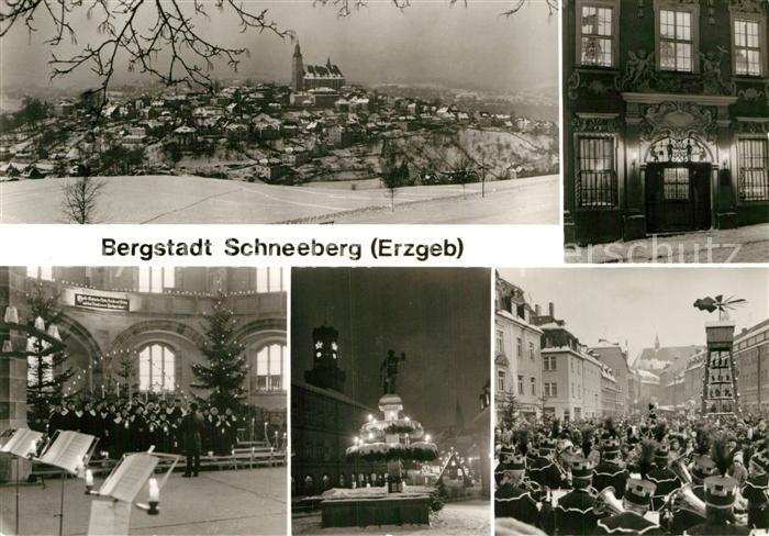 AK / Ansichtskarte Schneeberg Erzgebirge Zur Weihnachtszeit Kat. Schneeberg