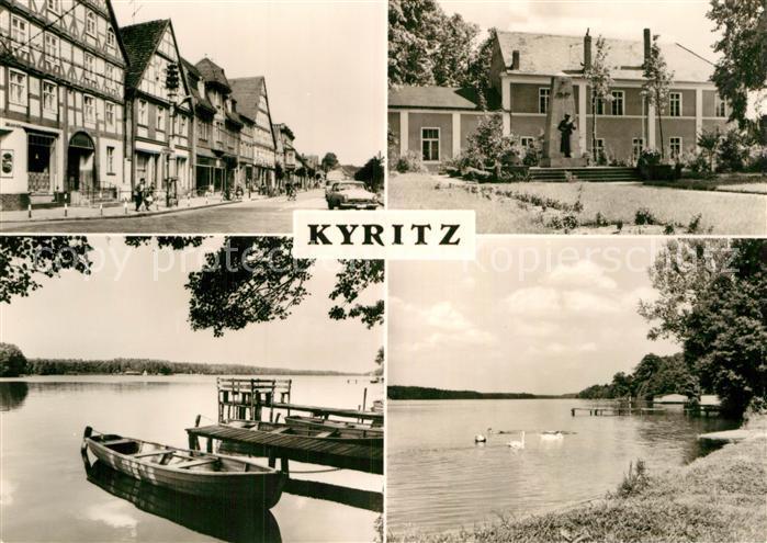 AK / Ansichtskarte Kyritz Brandenburg Ortspartie und See Kat. Kyritz