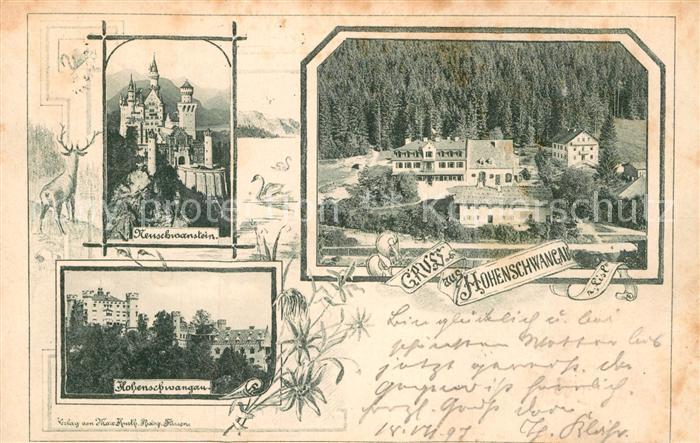 AK / Ansichtskarte Schwangau Schloss Neuschwanstein Hohenschwangau  Kat. Schwangau