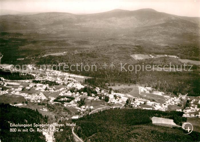 AK / Ansichtskarte Spiegelau Erholungsort Bayerischer Wald Fliegeraufnahme Kat. Spiegelau