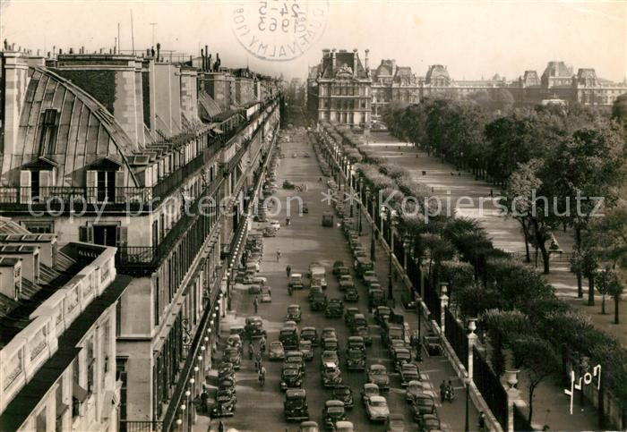 AK / Ansichtskarte Paris en flanant Rue de Rivoli les Tuileries et le Louvre Kat. Paris