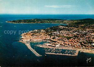 AK / Ansichtskarte Saint Tropez Var Nouveau Port et Cap Saint Pierre Collection Couleurs et Lumiere de France vue aerienne Kat. Saint Tropez