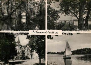 AK / Ansichtskarte Scharmuetzelsee Schwarzhorn Springseebruecke Wendisch Rietz Kat. Bad Saarow