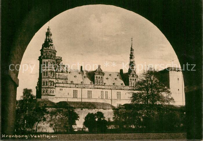 AK / Ansichtskarte Kronborg Slot Vestflojen Schloss Kat. Daenemark