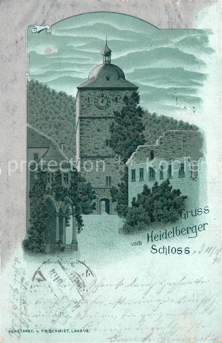AK / Ansichtskarte Heidelberg Neckar Schloss Mondschein Kat. Heidelberg
