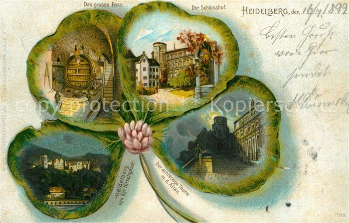 AK / Ansichtskarte Heidelberg Neckar grosses Fass Schlosshof achteckiger Turm Kat. Heidelberg