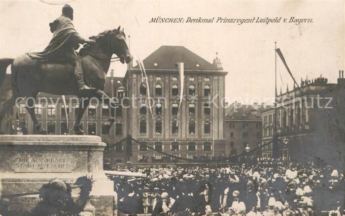 AK / Ansichtskarte Muenchen Denkmal Prinzregent Luitpold von Bayern Kat. Muenchen