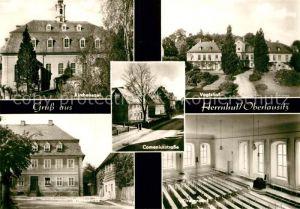 AK / Ansichtskarte Herrnhut Kirchensaal Comeniusstrasse Witwenhaus Buergerhaus Kat. Herrnhut