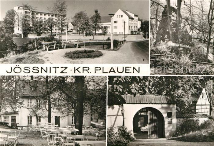 AK / Ansichtskarte Joessnitz Erholungsheim Richard Mildenstrey Teufelskanzel Nymphental Restaurant Pfeffermuehle Ferienheim Lochbauer Kat. Plauen