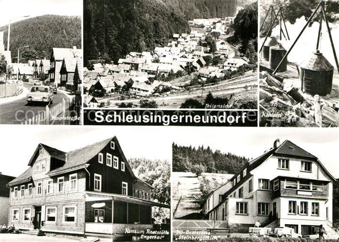 AK / Ansichtskarte Schleusingerneundorf Koehlerei Restaurants Egertal und Steinbergsblick Kat. Nahetal Waldau