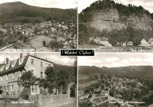 AK / Ansichtskarte Oybin Berg Oybin Fliegeraufnahme mit Scharfenstein  Hochwald Hotel am Bahnhof Kat. Kurort Oybin