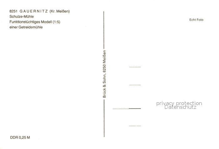 AK / Ansichtskarte Gauernitz Schulze Muehle Modell einer Getreidemuehle Kat. Klipphausen 1