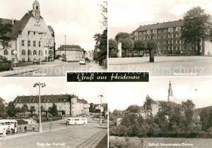 AK / Ansichtskarte Heidenau Sachsen Rathaus Schloss Weesenstein Dohna Platz der Freiheit Kat. Heidenau