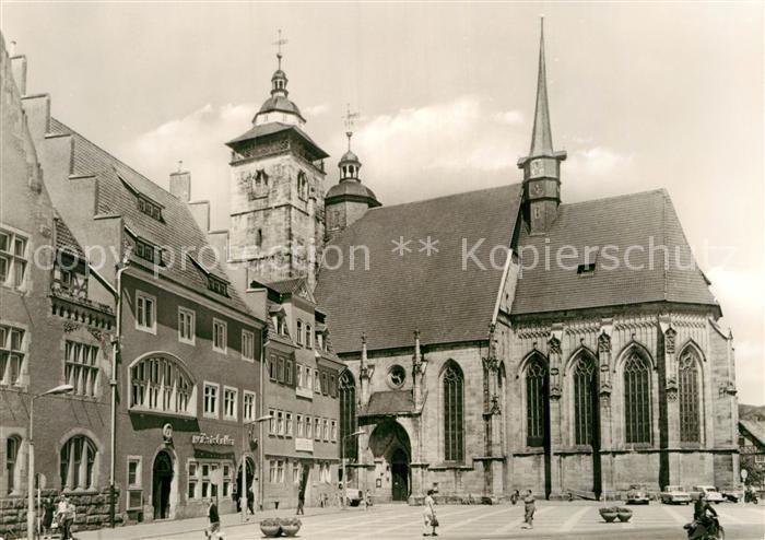 AK / Ansichtskarte Schmalkalden Marktplatz mit Kirche Kat. Schmalkalden