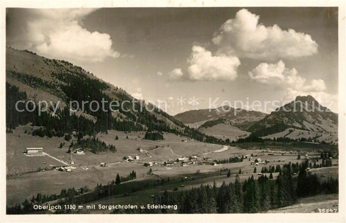 AK / Ansichtskarte Oberjoch Panorama Sorgschrofen Edelsberg Kat. Bad Hindelang