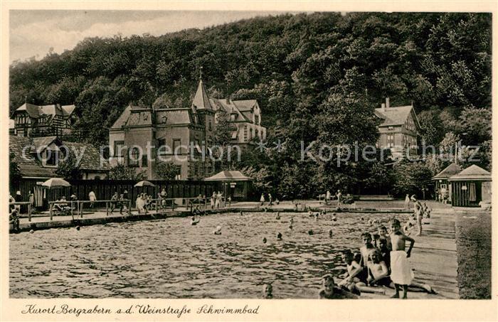 AK / Ansichtskarte Bad Bergzabern Schwimmbad Kat. Bad Bergzabern