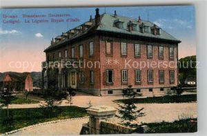 AK / Ansichtskarte Cettigne Cetinje Legation Royale d Italie