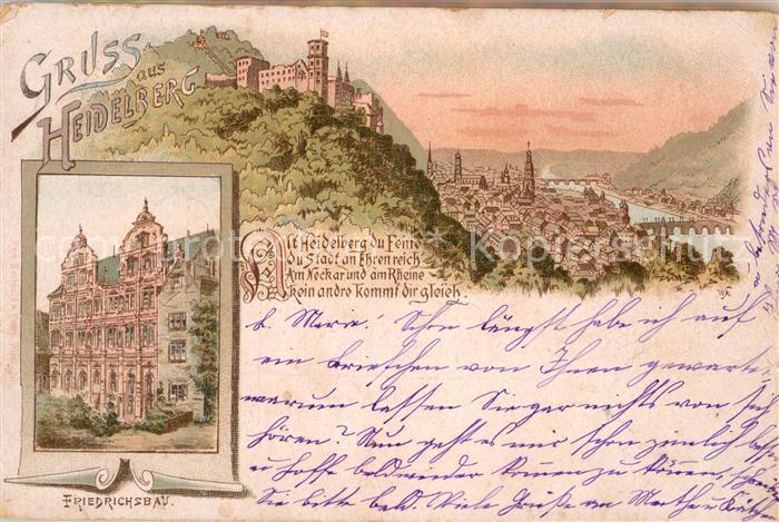 AK / Ansichtskarte Heidelberg Neckar Friedrichsbau Schloss Kat. Heidelberg