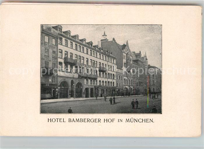 AK / Ansichtskarte Muenchen Hotel Bamberger Hof Kat. Muenchen