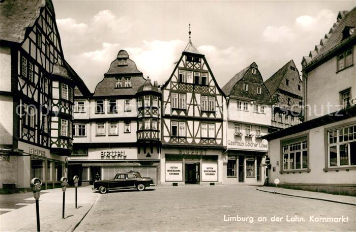 AK / Ansichtskarte Limburg Lahn Kornmarkt Fachwerkhaeuser Altstadt Kat. Limburg a.d. Lahn