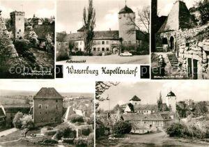 AK / Ansichtskarte Kapellendorf Wasserburg Gefaengnisturm Klosterkirche Innenhof mittelalterliche Kueche Kat. Kapellendorf