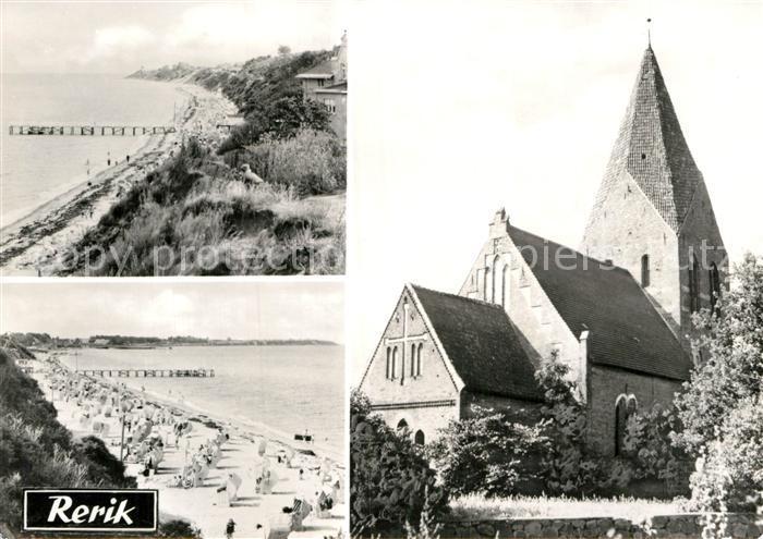 AK / Ansichtskarte Rerik Ostseebad Strand Kirche Kat. Ostseebad Rerik