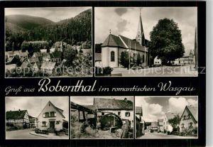AK / Ansichtskarte Bobenthal Teilansicht Kirche Muehlrad Dorfpartien Kat. Bobenthal